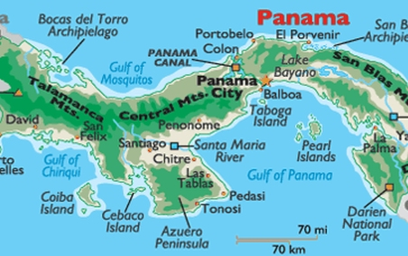 We were near Panama City on the south (Pacific) side of the country.